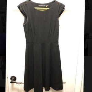 Fit and flare mini black dress